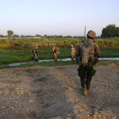 Danske soldater på patrulje i Afghanistan, sommer 2009.