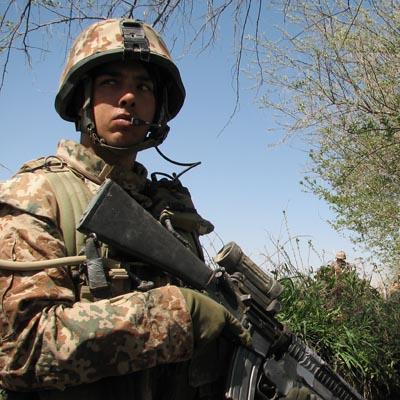 Dansk soldet før angreb på compound i Green Zone, Afghanistan